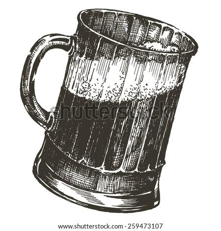 beer vector logo design template. oktoberfest or pub icon. - stock vector
