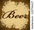 beer Vintage Poster Vector - stock vector