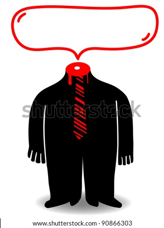 beheaded employee - stock vector