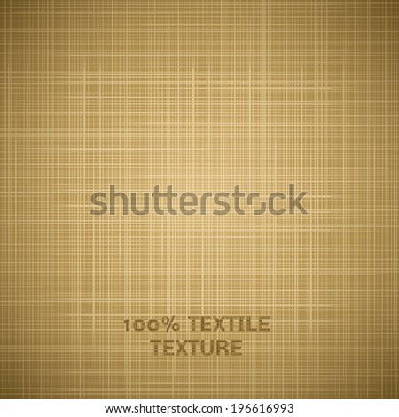 Beige cloth texture background. Vector illustration for your handmade design. Book and wall cover. Fabric bright canvas wallpaper with delicate striped pattern. - stock vector