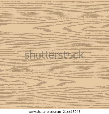 Beige color wood texture background in square format. Natural pattern swatch template in simple flat style. Realistic plank with annual years circles. Design elements save in vector illustration 8 eps - stock vector