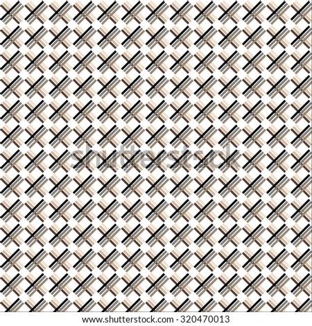 Beige fabric pattern. Textile design seamless decor, vector graphic illustration - stock vector