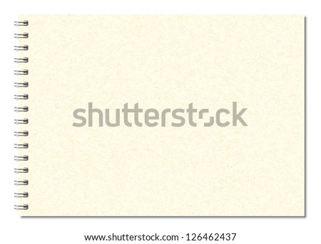 Beige spiral notebook A5 vector image - stock vector