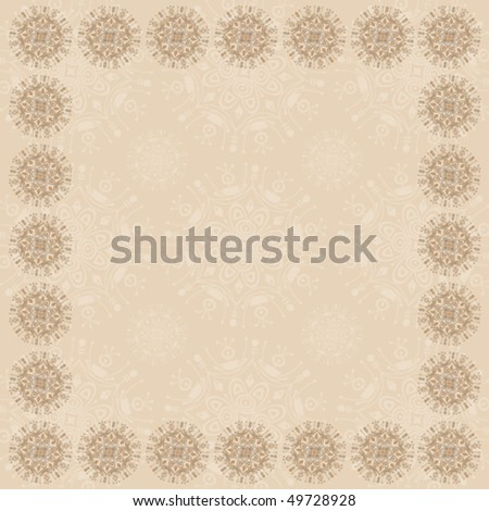 Beige Square Frame Two - in a Series of Three - stock vector