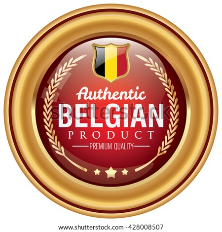 belgian product icon - stock vector