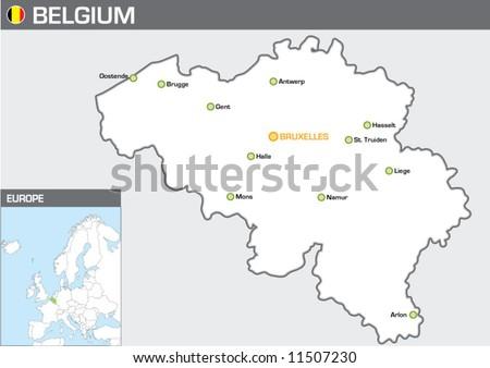 Belgium - stock vector
