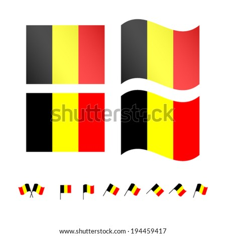 Belgium Flags EPS 10 - stock vector