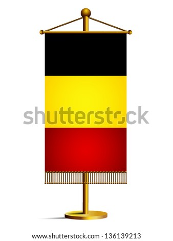 Belgium table flag isolated on white - stock vector