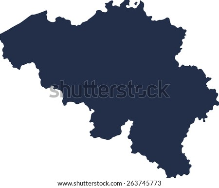 Belgium Vector map. High detailed.  - stock vector