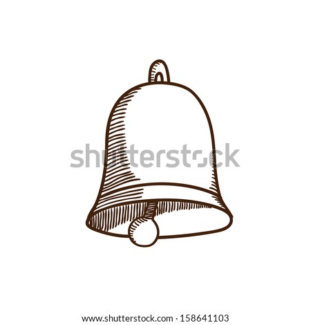 Bell. Christmas and New year design element isolated on white  - stock vector