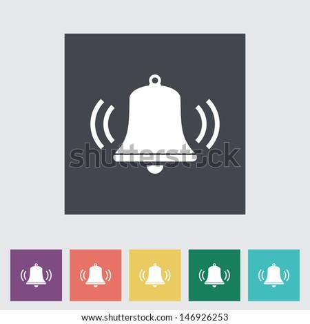 Bell flat icon. Vector illustration EPS. - stock vector