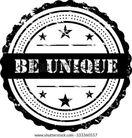 Ben Unique / Grunge Badge - stock vector