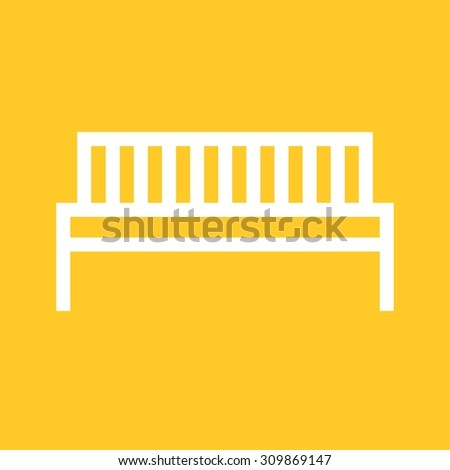 Bench, park, work icon vector image.Can also be used for furniture design. Suitable for mobile apps, web apps and print media. - stock vector