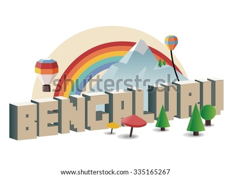 Bengaluru - stock vector