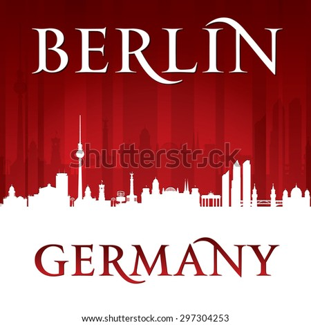 Berlin Germany city skyline silhouette. Vector illustration - stock vector