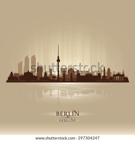 Berlin Germany city skyline vector silhouette illustration - stock vector