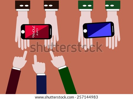 Best Buy On smart phone Showing Excellent Sale Or Premium Product - stock vector