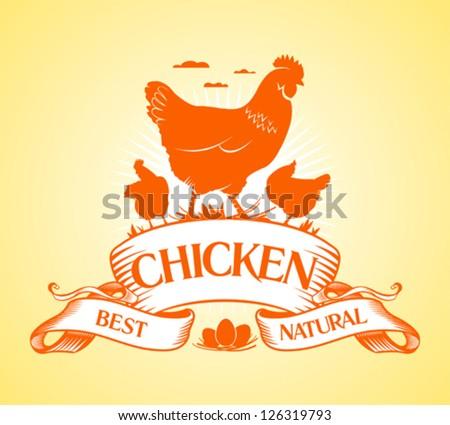 Best chicken design template. - stock vector