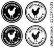 Best chicken vector stamps./ Grunge chicken meat stamp - stock vector
