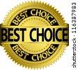 Best choice golden label, vector illustration - stock vector