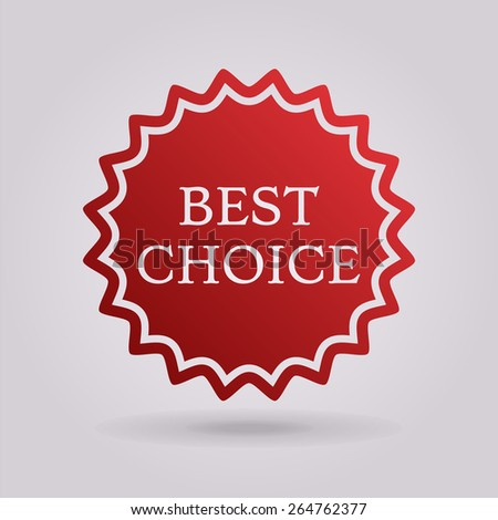 Best choice icon - stock vector