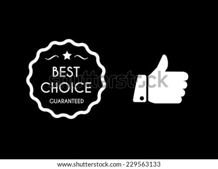 Best choice icons - stock vector