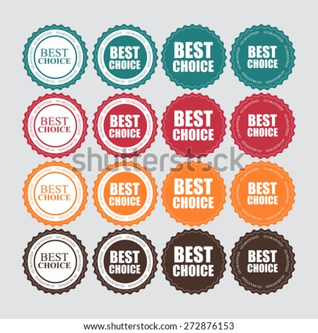 Best Choice Label with Ribbon Vector Illustration EPS10 - stock vector