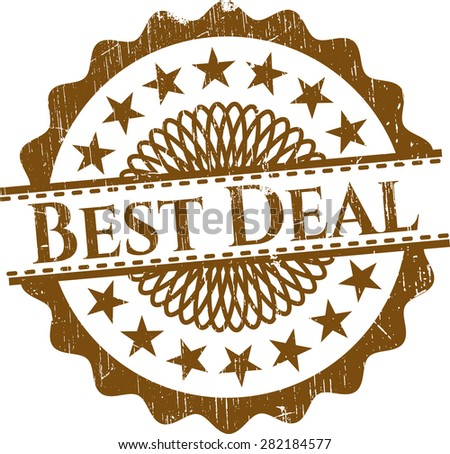 Best Deal shiny badge - stock vector