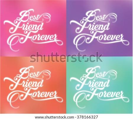 Best Friend Forever - stock vector