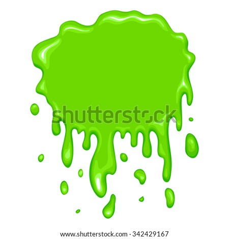 Best green slime icon isolated on a white background - stock vector