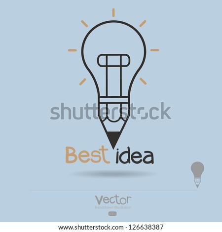 best idea concept creative - stock vector