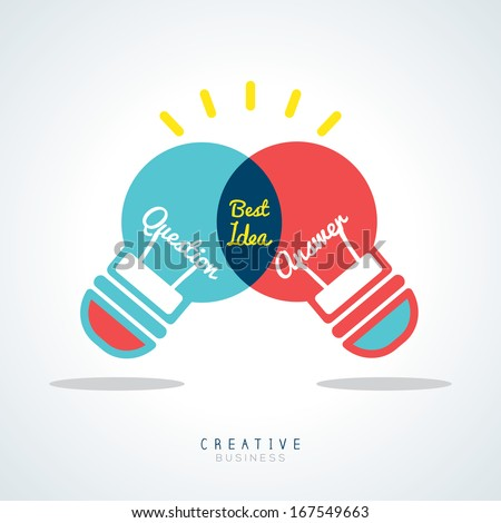 Best Idea Creative light bulb Vector Concept Illustration - stock vector
