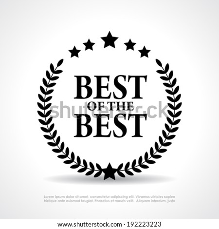 Best of the best icon - stock vector