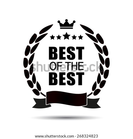 Best of the Best icon. Retro vintage style - stock vector