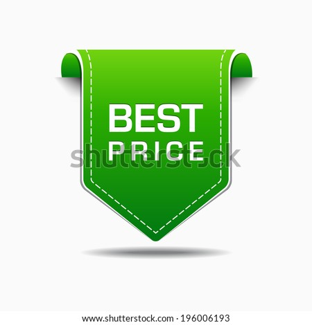 Best Price Green Label Icon Vector Design - stock vector
