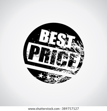 Best price stamp style black sticker with grunge design and ink splatter - stock vector