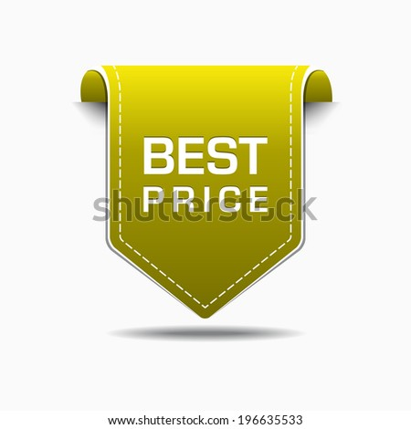 Best Price Yellow Label Icon Vector Design - stock vector