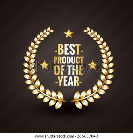 best product of the year 2015 winner badge label design vector illistration - stock vector