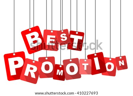 best promotion, red vector best promotion, red tag best promotion, flat vector best promotion, element best promotion, sign best promotion, design best promotion, background best promotion - stock vector