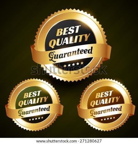 best quality beautiful vector golden label design illustration - stock vector