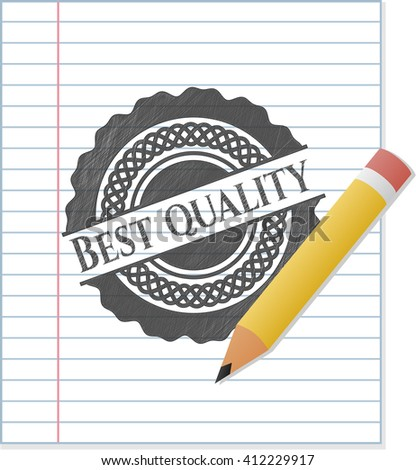 Best Quality draw with pencil effect - stock vector