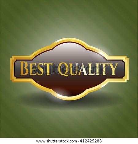 Best Quality gold shiny emblem - stock vector