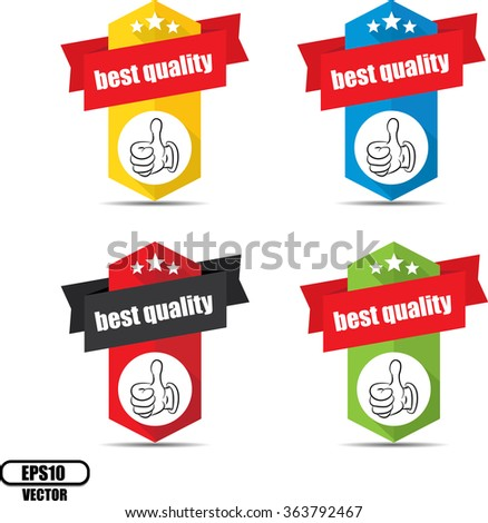 Best quality label and sign - Vector illustration - stock vector