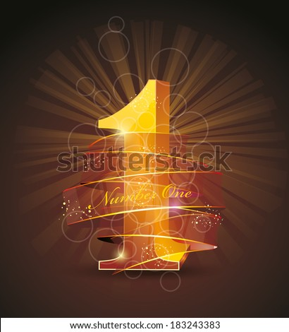 best quality original product number one  - stock vector
