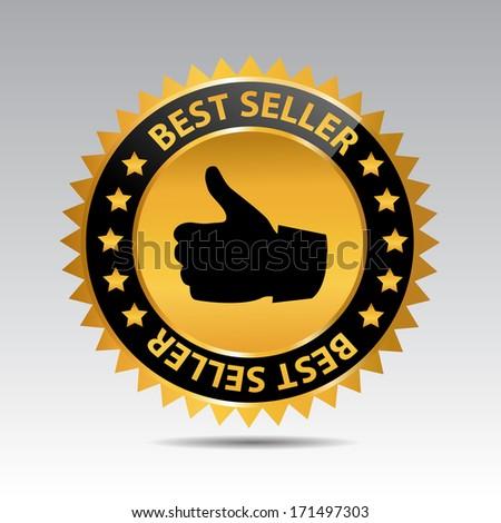 Best Seller Badge Design - stock vector