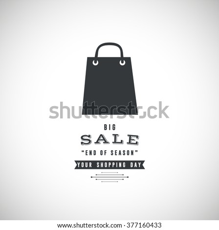 Best shopping tour design template with paper bag. - stock vector