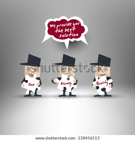 Best solution for business - stock vector