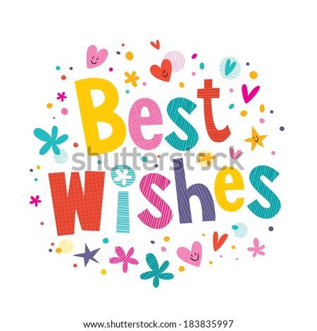 Best Wishes - stock vector