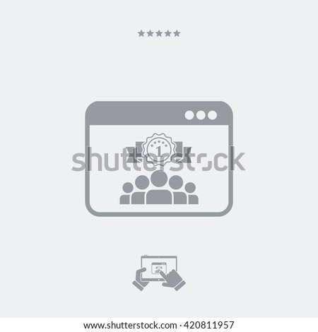 Best working team icon - stock vector