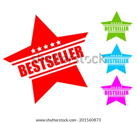 Bestseller icon - stock vector